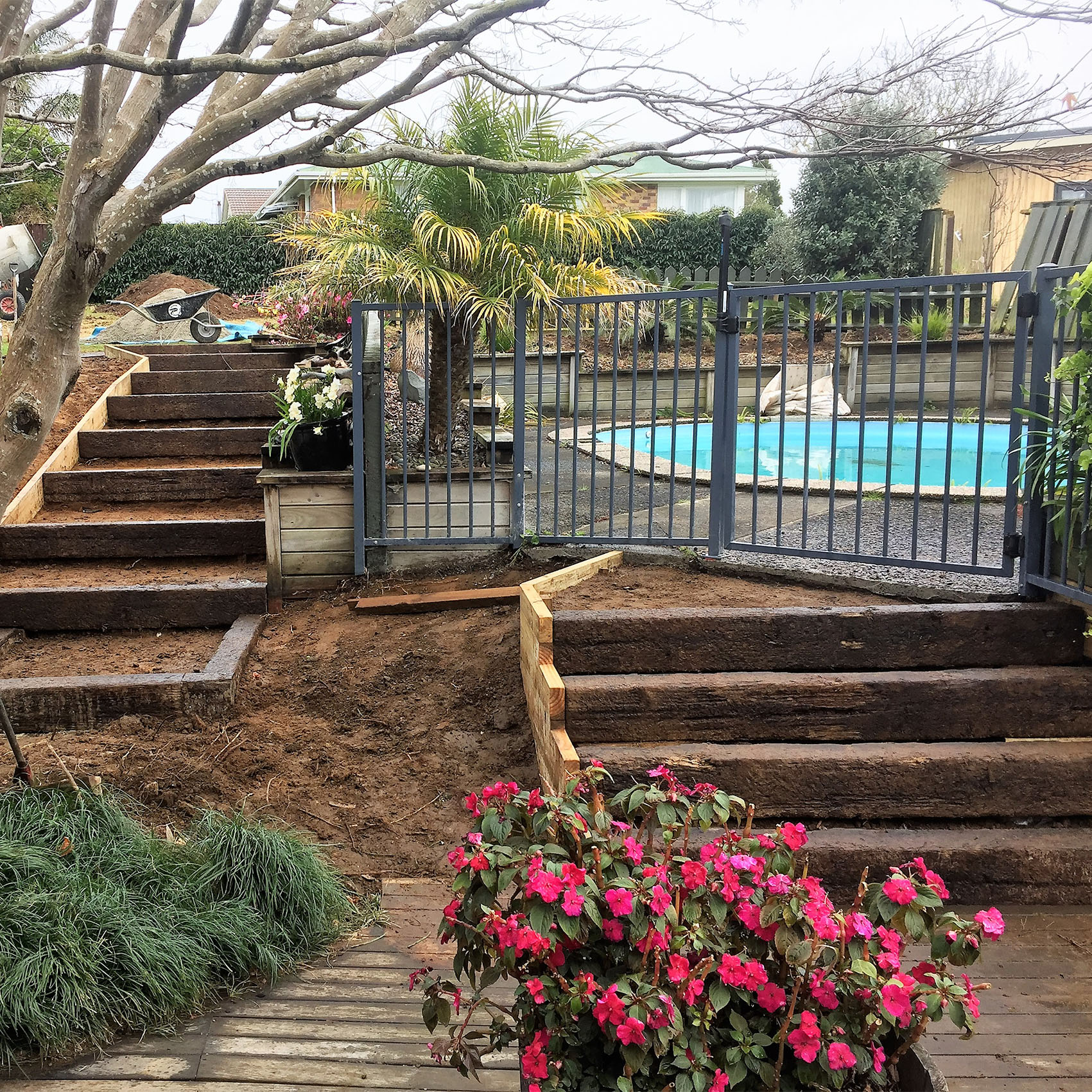 tepuke landscaping services pool fencing, stairs and yard work